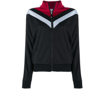 colour block zip up sweatshirt