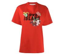 """T-Shirt mit """"Love Island""""-Print"""