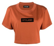 Cropped-T-Shirt mit Logo