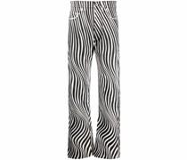 Gerade Jeans mit Optic-Print
