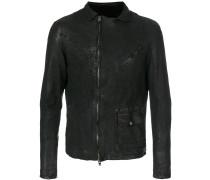 off-centre zip jacket