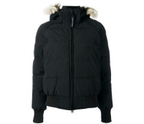 furtrimmed hooded jacket
