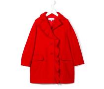 Mantel mit Rüschenborte