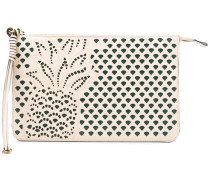 laser-cut pineapple clutch