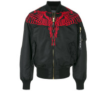 embroidered wing bomber ajcket