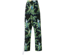 Halle Paradise print trousers