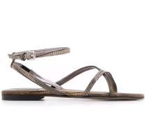 Sandalen mit Schlangenleder-Effekt