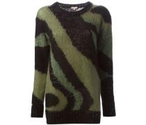 Intarsien-Sweatshirt mit Musterung