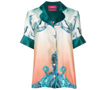 Pyjama-Hemd mit grafischem Print