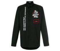 appliqué badge shirt