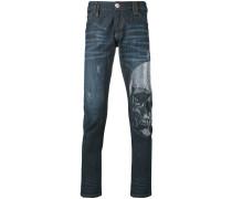 Skinny-Jeans mit Totenkopf-Verzierung - men