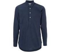 half buttoned shirt