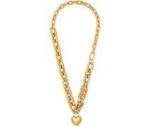 Vergoldete Halskette mit Herzschloss