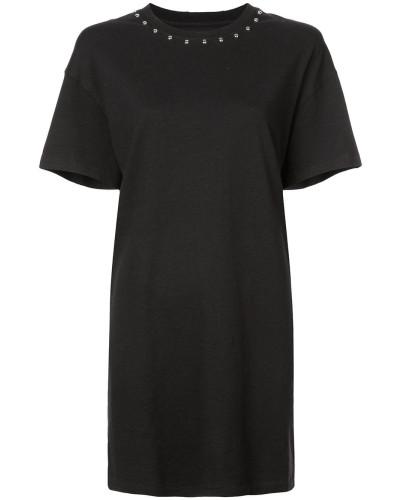 T-Shirtkleid mit Nieten