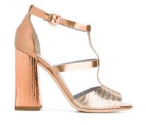Metallische Sandalen