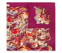 Seidenschal mit Schuh-Print