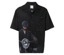Hemd mit Motorrad-Print