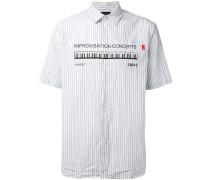 Gestreiftes Hemd mit Print