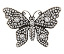 Crystal studded butterfly brooch