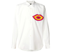 Lips motif shirt