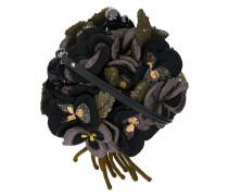 3D sequinned floral motif bag