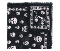 Schal mit Totenkopf-Print - women - Seide/Modal