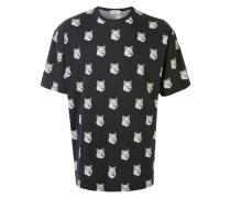 T-Shirt mit Fuchsköpfen