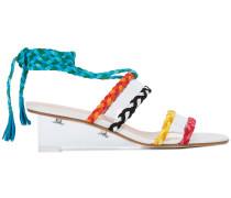 Wedge-Sandalen mit geflochtenen Riemchen