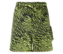 Shorts mit Tiger-Print