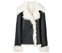 Shearling-Jacke mit weitem Revers