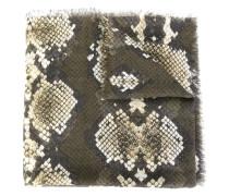 Kaschmirschal mit Schlangenleder-Print