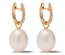 18kt Goldohrringe mit Perlen