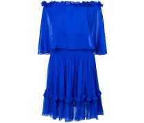 Schulterfreies Kleid mit gerüschten Details