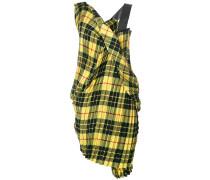 tartan gathered dress