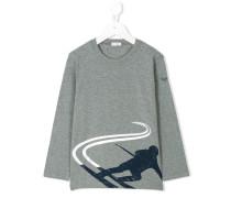 T-Shirt mit Ski-Print