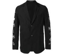 branded patch sleeve jacket