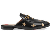 Princetown embroidered leather slipper