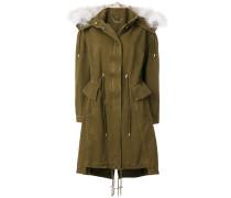 fox fur trim hooded jacket