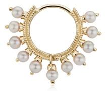 18kt Gelbgoldcreole mit Perlen