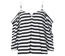 Gestreifte Bluse mit schulterfreiem Design