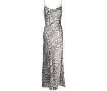 snake print slip dress