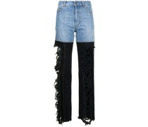 Gerade Combo High-Rise-Jeans
