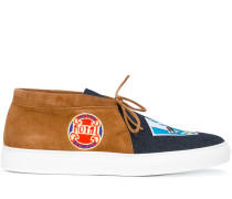 Slip-On-Sneakers mit Jeanseinsatz