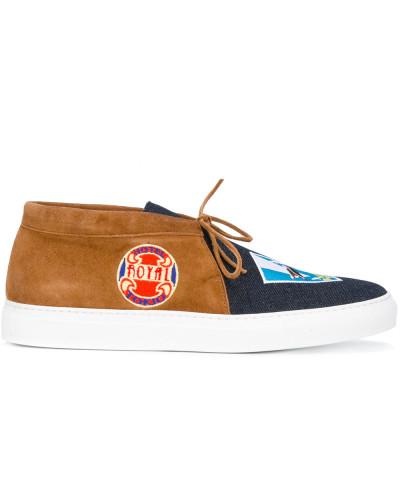 Slip-On-Sneakers mit Jeanseinsatz