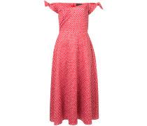 polka dot print off the shoulder dress