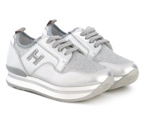 Sneakers mit Schnürung - kids - Leder/Foam