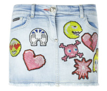 'Better Way' Jeansrock mit Patches