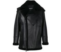 Oversized-Jacke mit Shearling-Besatz