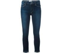 Ausgefranste Skinny-Cropped-Jeans - women