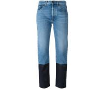 Jeans mit kontrastierendem Saum